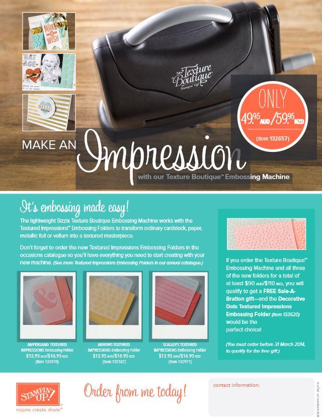 impressions texturing machine